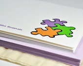 Ecofriendly Custom Puzzle Stationery - Set of 10
