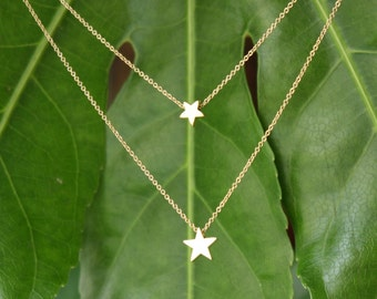 Gold Stars Dainty Necklace, Fashion Jewelry, Gift for Mom, Gift for Sister, Star Necklace, Summer Trend, Fashion Trend, Delicate Jewelry
