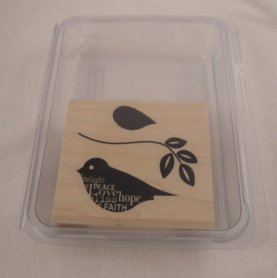 Blissful Bird Stampin' Up retired stamp