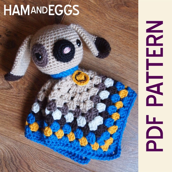 Amigurumi Puppy Dog Security Blanket Lovey PDF by HamAndEggs