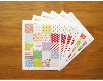 Floral Planner Stickers Scrapbook Diary