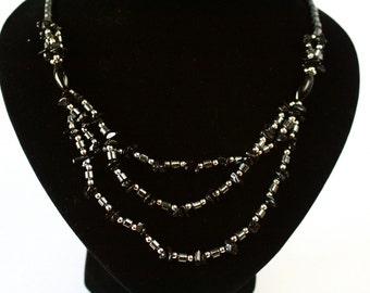 ONYX e HEMATITE //// Stone Necklace