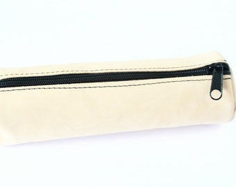Leather Pencil Case or Cosmetic Bag