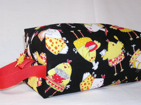 Cookin Chickens Project Bag with Chicken Bead