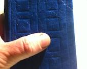 Blu leather journal