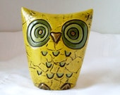 Vintage Owl Bank Papier Mache by Fitz and Floyd