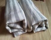 Grey Stripe Linen Towels