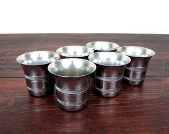 Vintage Set of Six Farber Bros Krome Kraft Cups