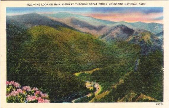 Vintage Postcard - The Great Smoky Mountains (Unused)