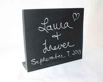 Chalkboard Message Sign or Memo Board, free standing, Small or Large Sizes, wedding, party, event, menu or store hours & specials sign