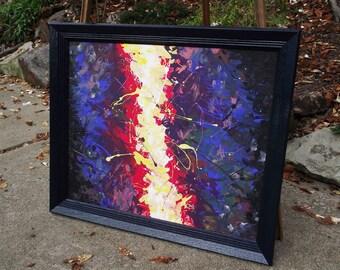 Splatter Jazz -- original acrylic painting