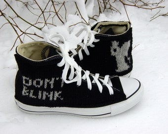 Doctor Who Weeping Angels Knit Chucks