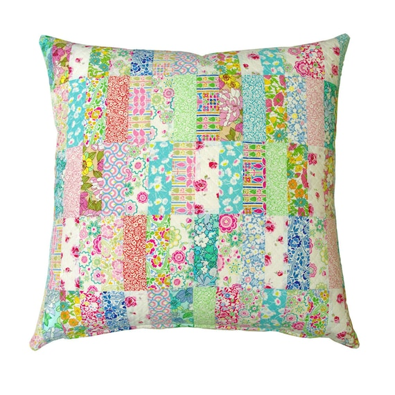 Liberty Patchwork Quilted Pillow Cover