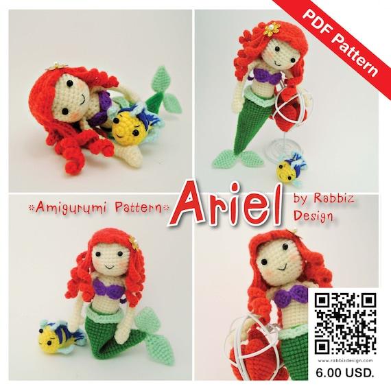 Amigurumi Little Mermaid : PDF Pattern Amigurumi Princess Ariel The Little por ...