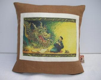 Chinese Dragon Cushion