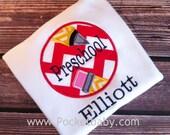 Back to School Personalized Shirt - Preschool - Kindergarden - 1st Grade Shirt - by Pocketbaby