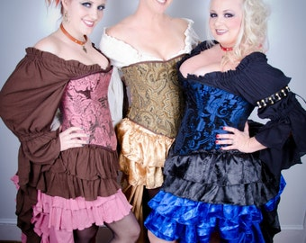 Plus size Blouse, Choose your Color Cotton Blouse, Chemise, Peasent Top, Renaissance, Steampunk, Pirate, Costume