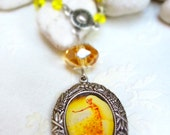 La danseuse etoile - Illustrated cameo necklace