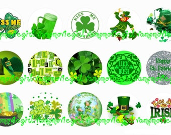 INSTANT DOWNLOAD...St. Patrick's Day 2... 1 Inch Circle Image Collage for Bottle Caps...Buy 3 get 1