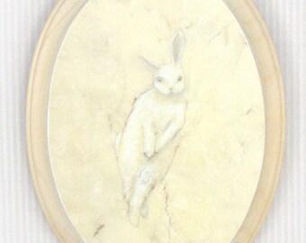 Lapine (print mounted on wood)