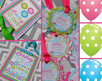 Cute as a Button Birthday Party Decorations Sew Cute Fully Assembled