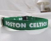 Boston Celtics Cat  or Small Dog Collar