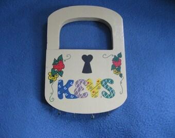 Vintage, Handmade, Wooden, Key Holder