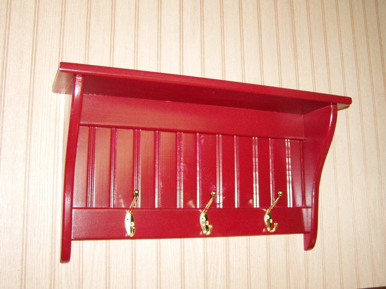 coat rack display shelf wood wall shelf country coat rack. Black Bedroom Furniture Sets. Home Design Ideas