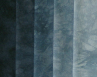 Hand Dyed Fabric Shades - Denim Blue