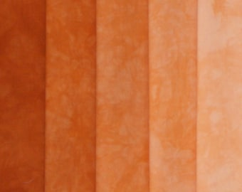 Hand Dyed Fabric Shades - Wildfire