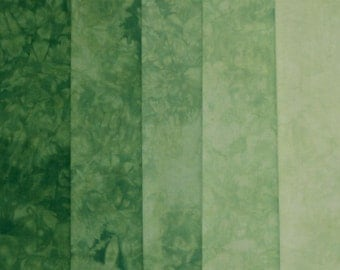 Hand Dyed Fabric - Grass -  Shades Pack