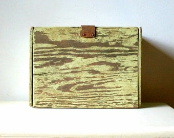 Very Distressed Primitive Wood Box