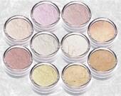 Eyeshadow Set NEUTRAL PASTEL Mineral kit rose purple pearl brown kit bare shimmer Eye Shadow Liner TiaraLx