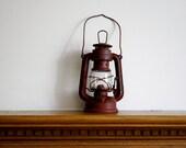 Vintage Railroad Lantern in Red by Globe Brand
