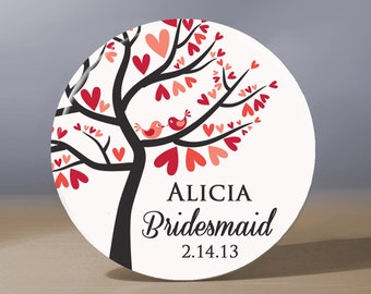 Bridesmaid Gift | Personalized Pocket Mirror | Mother of the Groom Gift | Matron of Honor Gift | Maid of Honor Gift | Wedding Party Gift