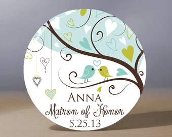 Bridesmaid Gift | Personalized Pocket Mirror | Matron of Honor Gift | Flower Girl Gift | Mother of the Bride Gift | Wedding Party Gift
