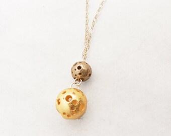 DISCONTINUED Moonball Orbit Necklace