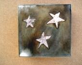 Silver Stars Steel Light Sconce