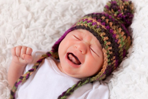 Basic HDC Earflap Hat Pattern - All Sizes - Instant Download