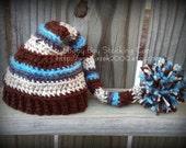 Baby Stocking Cap, Baby Night Cap, Crochet Baby Hats, Baby Boy Hats, Hats for Babies, Stripe Boy Hat, Hats for Kids
