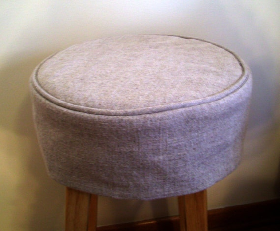 Linen Round Barstool Slipcover With Cushion Bar Stool