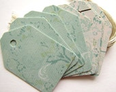 Teal Gift Tags Recycled Favor Tags, Shipping Tags