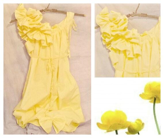 Short Bridesmaid Dress Buttercup Yellow Knee Length Custom Patisserie Womens Spring