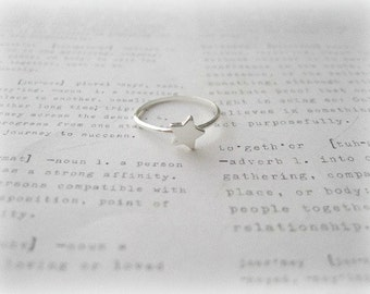 Silver Star Knuckle Ring