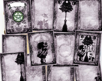 Digital BoS Pages - Purple Hedge Witch - 12 original Witchcraft Wiccan spell pages to download