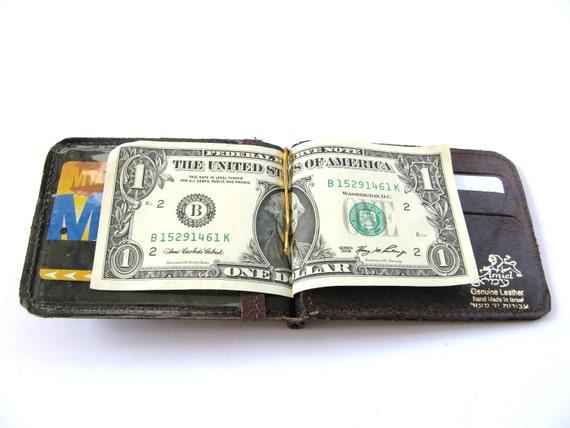 Show me the MONEY CLIP - Brown Leather Money Clip Wallet