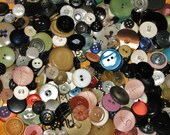 SALE ~ Vintage Buttons Over 400 New Used Mixed Media Altered Art Sewing Plastic Assorted Variety ~ SALE