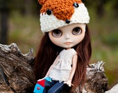 Little Fox Hat for Blythe- Ready to Ship
