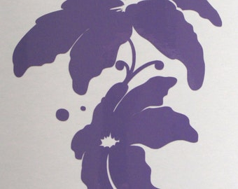 Lilies in Lavender decal