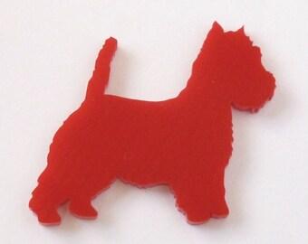 Mini West Highland Terrier Brooch
